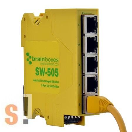 SW-505 # Ethernet switch, 5 port, 10/100 Mbps, DIN sínre