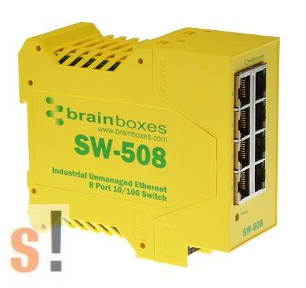 SW-508 # Ethernet switch, 8 port, 10/100 Mbps, DIN sínre