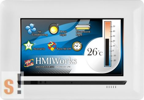 "TPD-703-64 # 7"" HMI Panel/RS-485/RS-232/PoE Ethernet/Modbus TCP/RTU, ICP DAS"