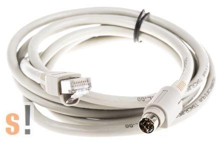 TSXCRJMD25 # Schneider PLC RJ45 MiniDIN kábel/2,5 méter, Schneider TSXCUSB485 programozó adapterhez