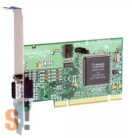 UC-324 # uPCI soros kártya (Universal PCI) RS-422/485 kártya/ 1x RS422/485 port/1 MBaud/DB9 csatlakozó/Brainboxes