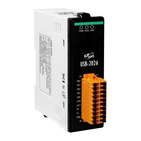 USB-2026 # USB I/O Modul/2x DI/2x DO/5x AI/2x AO, ICP DAS, ICP CON