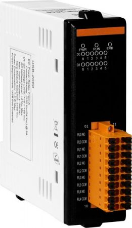USB-2060 # USB I/O Modul/6x DI/szigetelt/6x relé kimenet, RO, ICP DAS, ICP CON