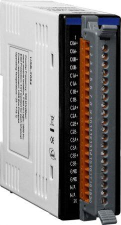 USB-2084 # USB I/O Modul/4x/8x/Számláló/Frekvencia/Enkoder, ICP DAS, ICP CON