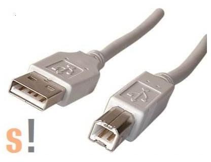 USB-A-B-1.8M # USB 2.0 kábel/A csatlakozó/B csatlakozó, 1.8 méter