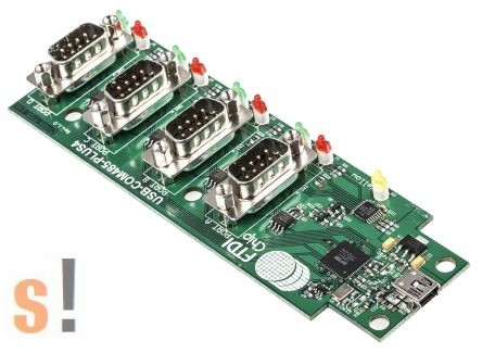 USB-COM485-Plus4 # USB - RS-485 konverter/Hub/4x RS-485 port/2-vezetékes