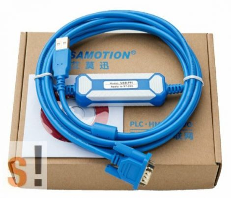 USB-PPI # Siemens Simatic S7-200 PLC programozó kábel/ USB port/ 6ES7 901-3DB30-0XA0 / Amsamotion