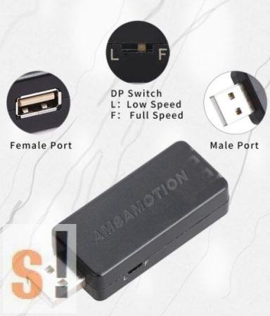 USB-USB-MINI # USB leválasztó/isolator/2,5kV szigetelés/USB 2.0/AMSAMOTION