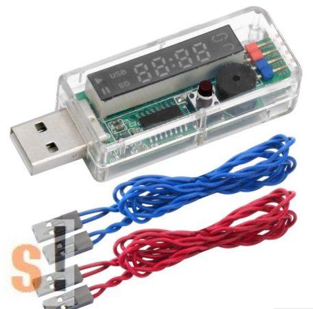 USB-Watchdog-LED # USB Watchdog modul/PC újraindítás/10-1270 másodperc timeout/1-99 nap restart/LED kijelző