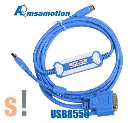 USB8550 # USB programozó kábel/adapter PANASONIC FP1/FP3/FP5 PLC + AFP1523 kábel