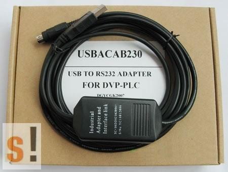 USBACAB230 # Delta PLC programozó kábel/USB/RS232 adapter