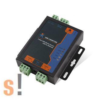 USR-CANET200 # CAN-Ethernet konverter és átjáró/gateway/2x CAN port/1x RS-485 port/1x Ethernet port/ipari/USR IOT