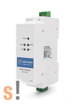 USR-DR301 # Soros - Ethernet konverter/RS-232 port/Modbus TCP/Modbus RTU átjáró/10/100 Mbps Ethernet/Ipari/DHCP/DNS/USR IOT