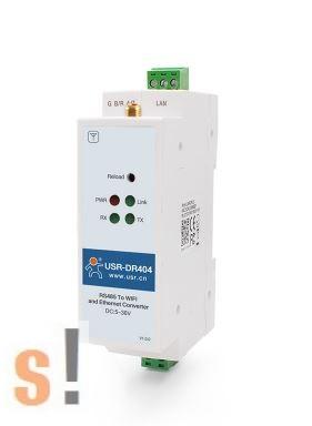 USR-DR404 # WiFi/ Ethernet - soros Modbus RS-232/485 konverter/server/gateway/Modbus RTU/Modbus TCP/802.11 a/b/g/n/ WLAN/Antenna/Ethernet USR IOT