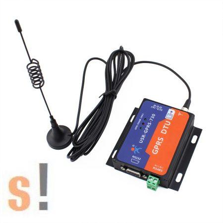 USR-GPRS232-730 # Ipari GSM/GPRS/IP 2G modem/4 sávos/850/900/1800/1900 MHz/RS-232/RS-485 port, USR IOT