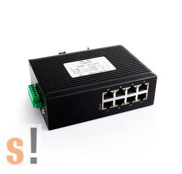 USR-SDR080 # Ipari 8 portos Ethernet switch/10/100 Mbps/DIN sínre/Fém ház/IP40 védettség/10~58Vdc táp/-40°C ~ +85°C/USR IOT