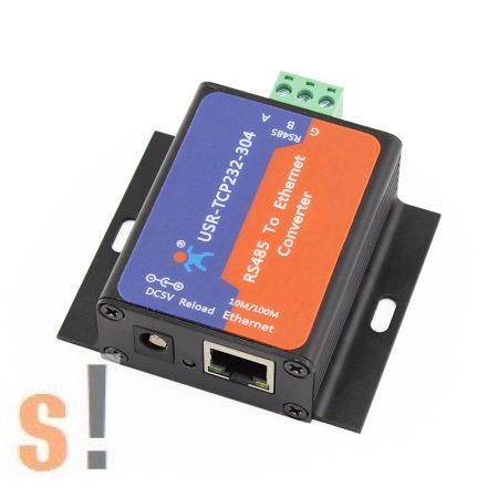 USR-TCP232-304 # Soros - Ethernet konverter/RS-485 port/10/100 Mbps Ethernet/Ipari/DHCP/DNS, USR IOT