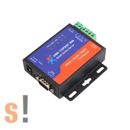 USR-TCP232-306 # Soros - Ethernet konverter/RS-232/422/485 port/10/100 Mbps Ethernet/Ipari/DHCP/DNS, USR IOT