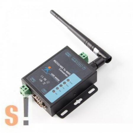 USR-W600 # WiFi - soros RS-232/485 konverter/server/802.11 b/g/n, WLAN/Antenna, USR IOT