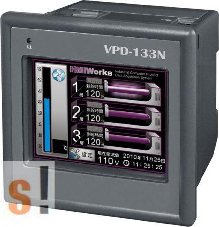 "VPD-133N CR # 3.5"" TouchPAD/1x RS-232/485/1x RS-485/USB/PoE Ethernet/RTC/PLC/XV-board hely, ICP DAS"
