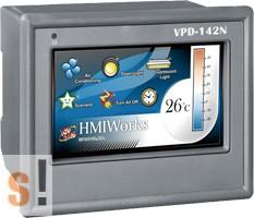 "VPD-142N # 4.3"" TouchPAD/2x RS-232/485/USB/RTC/PLC/XV-board hely, ICP DAS"