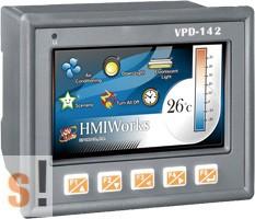 """VPD-142 # 4.3"""" TouchPAD/2x RS-232/485/USB/RTC/PLC/Nyomógombok/XV-board hely, ICP DAS"""