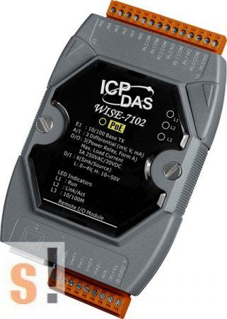 WISE-7102 # POE Controller/Modbus TCP/PoE Ethernet/3x AI/6x DI/3x relé, ICP DAS