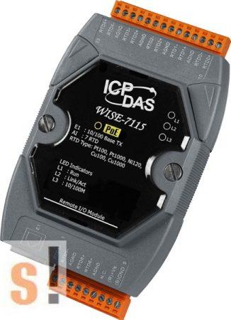 WISE-7115 # POE Controller/Modbus TCP/PoE Ethernet/7x AI/RTD, ICP DAS