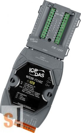 WISE-7118Z/S # POE Controller/Modbus TCP/PoE Ethernet/10x AI/hőelem, túlfeszültség védelemmel/6x DO/szigetelt/DN-1820, ICP DAS