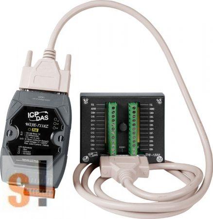 WISE-7118Z/S2 # POE Controller/Modbus TCP/PoE Ethernet/10x AI/hőelem, túlfeszültség védelemmel/6x DO/szigetelt/DN-1822, ICP DAS