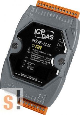 WISE-7126 # POE Controller/Modbus TCP/PoE Ethernet/6x AI/2x AO/2x DI/2x DO, ICP DAS