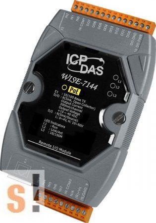 WISE-7144 # POE Controller/Modbus TCP/PoE Ethernet/8x DI/szigetelt/8x DO/szigetelt, ICP DAS