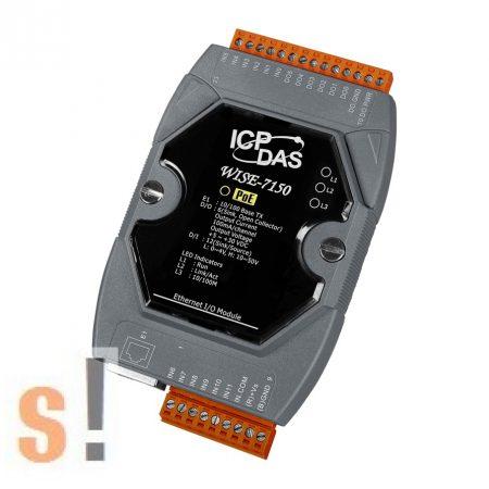 WISE-7150 # POE Controller/Modbus TCP/PoE Ethernet/12x DI/szigetelt/6x DO/szigetelt, ICP DAS