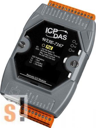 WISE-7167 # POE Controller/Modbus TCP/PoE Ethernet/8x RO relé kimenet, ICP DAS