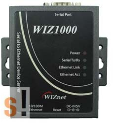 WIZ1000 # Soros - Ethernet konverter/RS-232 port/TCP/IP, WIZnet