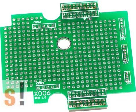 X006 # I/O bővítő kártya/prototípus/nagy/72x65mm ICP DAS