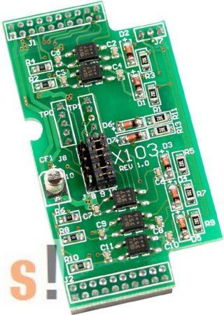 X103 # I/O bővítő kártya/7x DI/szigetelt, ICP DAS