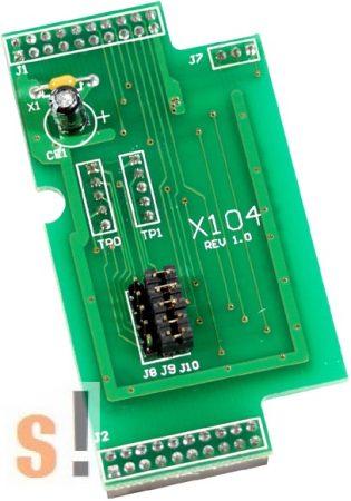 X104 # I/O bővítő kártya/8x DI vagy DO/programozható csatornák, ICP DAS