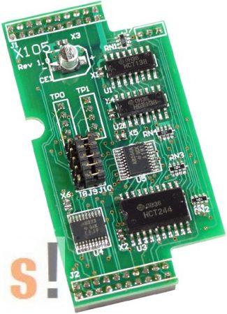 X105 # I/O bővítő kártya/8x DI vagy DO/programozható csatornák, ICP DAS