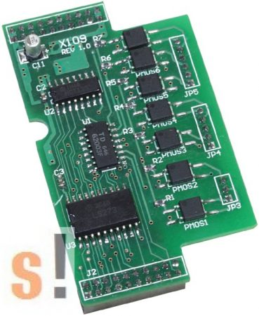 X109 # I/O bővítő kártya/7x relé ki RO/PhotoMos, ICP DAS