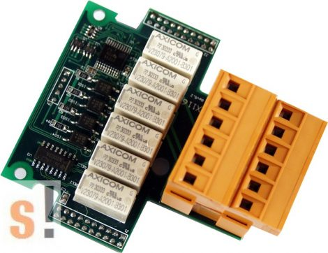 X116 # I/O bővítő kártya/4x DI/6x relé ki RO/szigetelt, ICP DAS