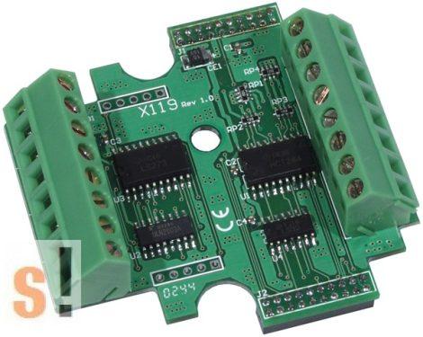 X119 # I/O bővítő kártya/7x DI/7x DO, ICP DAS