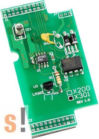 X301 # I/O bővítő kártya/1x AI/0~2,5V/1x AO/0~4.095V, ICP DAS