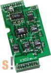 X302 # I/O bővítő kártya/1x AI/+-5V/1x AO/+-5V, ICP DAS