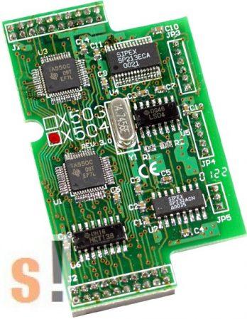 X504 CR # I/O bővítő kártya/2x RS-232/5 pin/9 pin, ICP DAS