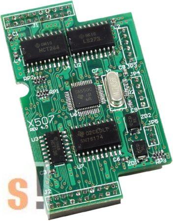 X507 CR # I/O bővítő kártya/1x RS-422/485 port/4x DI/4x DO, ICP DAS