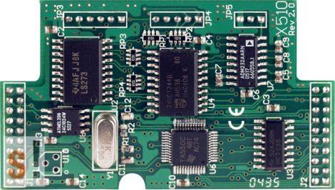 X510-128 # I/O bővítő kártya/1x RS-232 port/3 pin/5x DI/5x DO/1x 128K EEPROM, ICP DAS