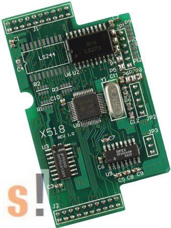 X518 CR # I/O bővítő kártya/1x RS-232 port/5 pin/8x DO, ICP DAS