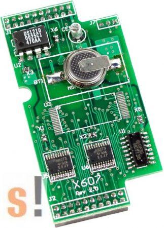 X607 CR # Memória bővítő kártya/128 KB SRAM/Battery backup, ICP DAS