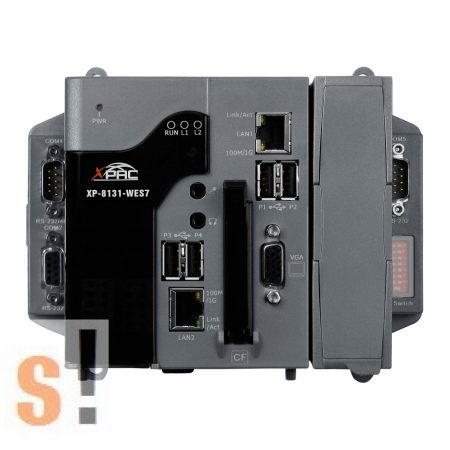 XP-8131-WES7 CR # XPAC/Controller/XP-8000-WES7/WES7 OS/x86 CPU és 1x I/O hely, ICP DAS